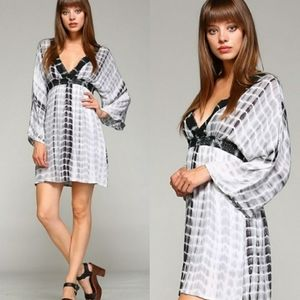 🐀HP Tie Dye Kimono Style Empire Babydoll Dress